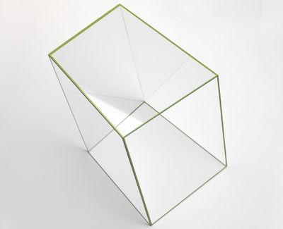 Table basse Wireframe 40 x 38 cm - Glas Italia vert/transparent en verre