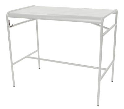 Table haute Luxembourg / 4 personnes - 126 x 73 cm - Aluminium - Fermob gris métal en métal