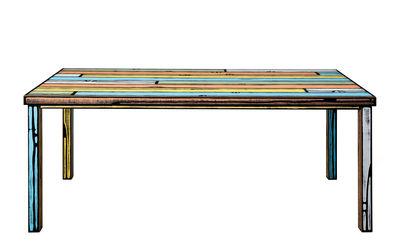 Mobilier - Tables - Table rectangulaire Wrongwoods / 200 x 90 cm - Established & Sons - Multicolore - Bois peint, Contreplaqué peint