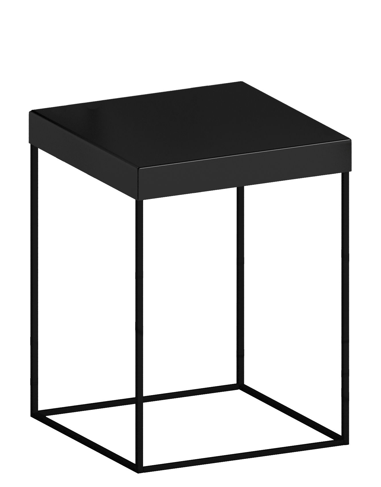 Arredamento - Tavolini  - Tavolino Slim Up - Nero ramato - Acciaio verniciato
