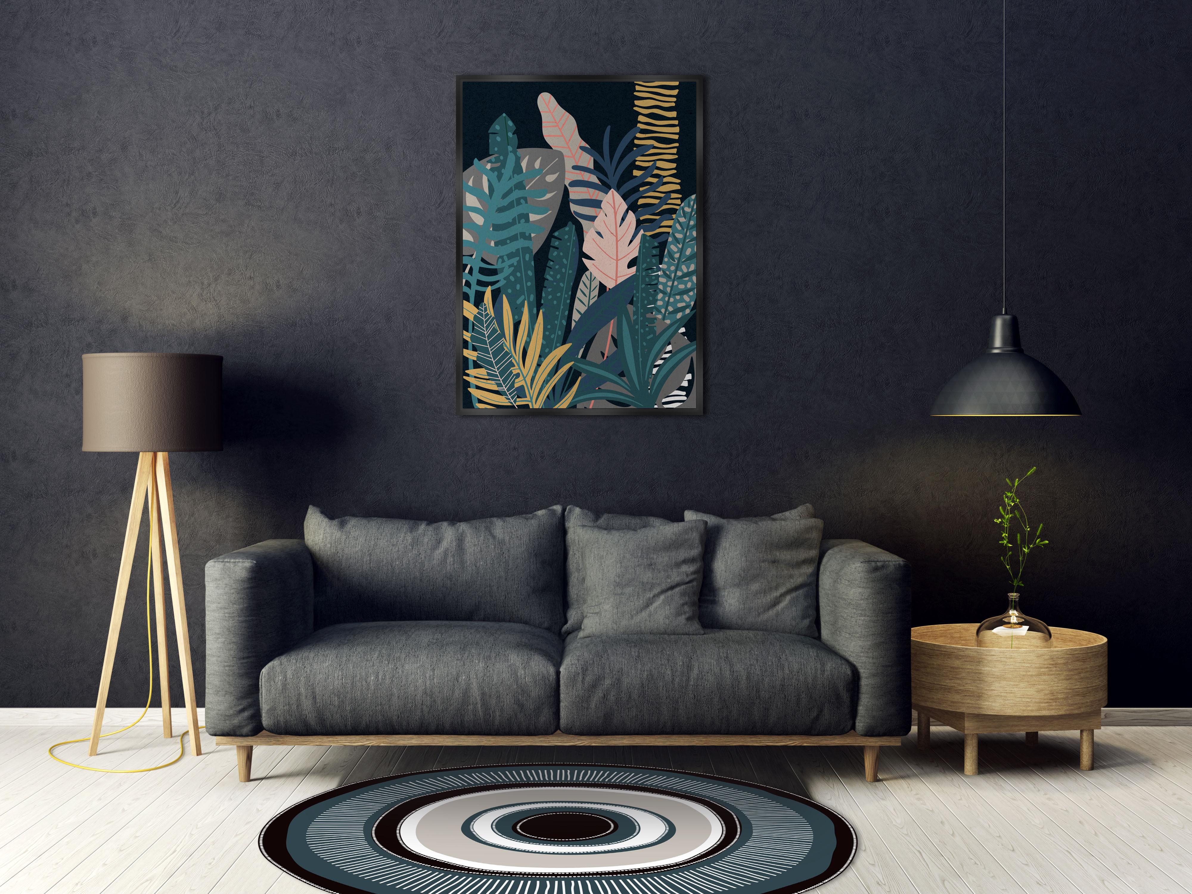 teppich il our il von p devache auge blau schwarz grau 99 made in design. Black Bedroom Furniture Sets. Home Design Ideas