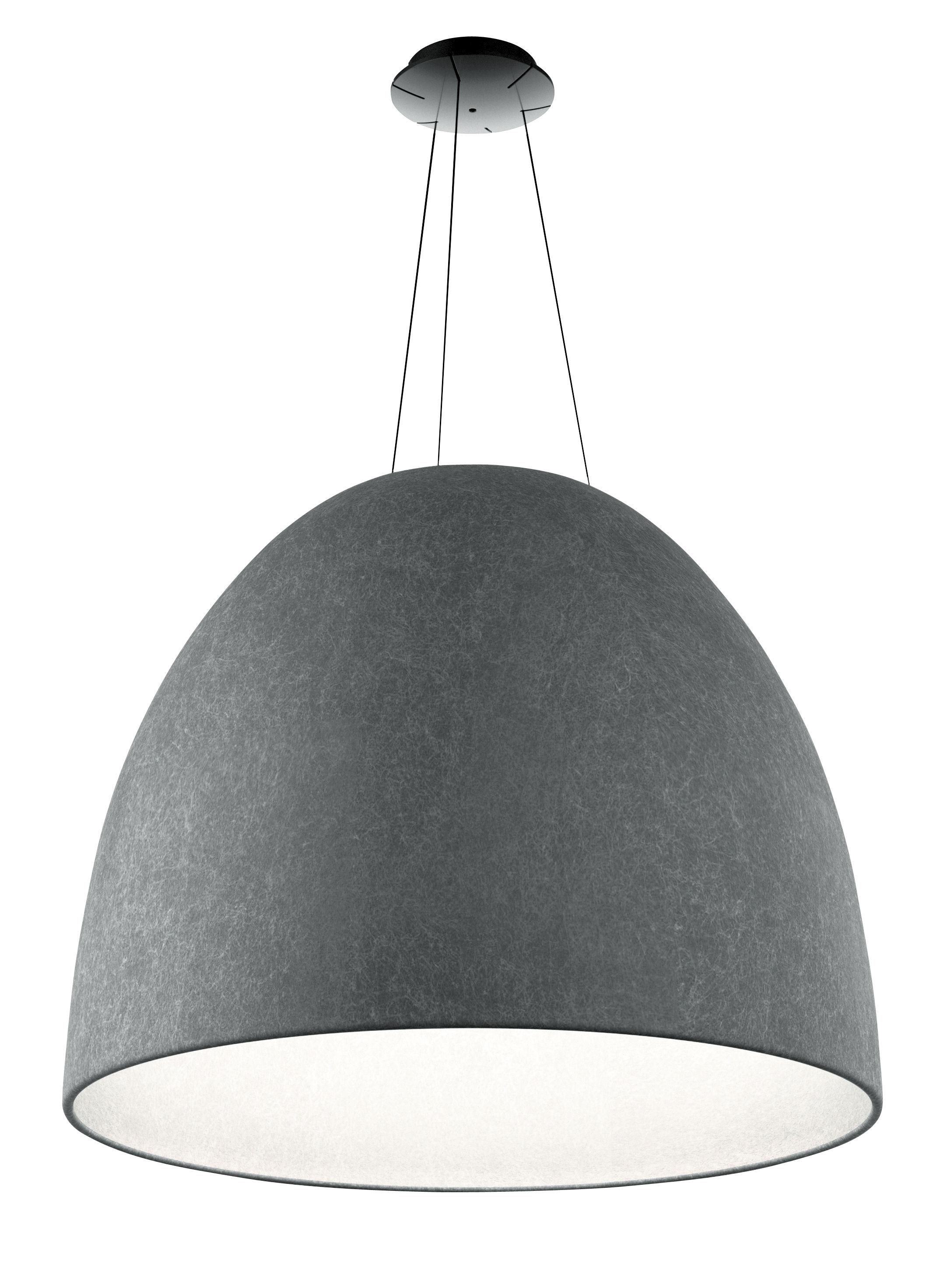 Lighting - Pendant Lighting - Nur LED Acoustic suspension - / Felt - Ø 91 cm by Artemide - Dark grey - PET felt