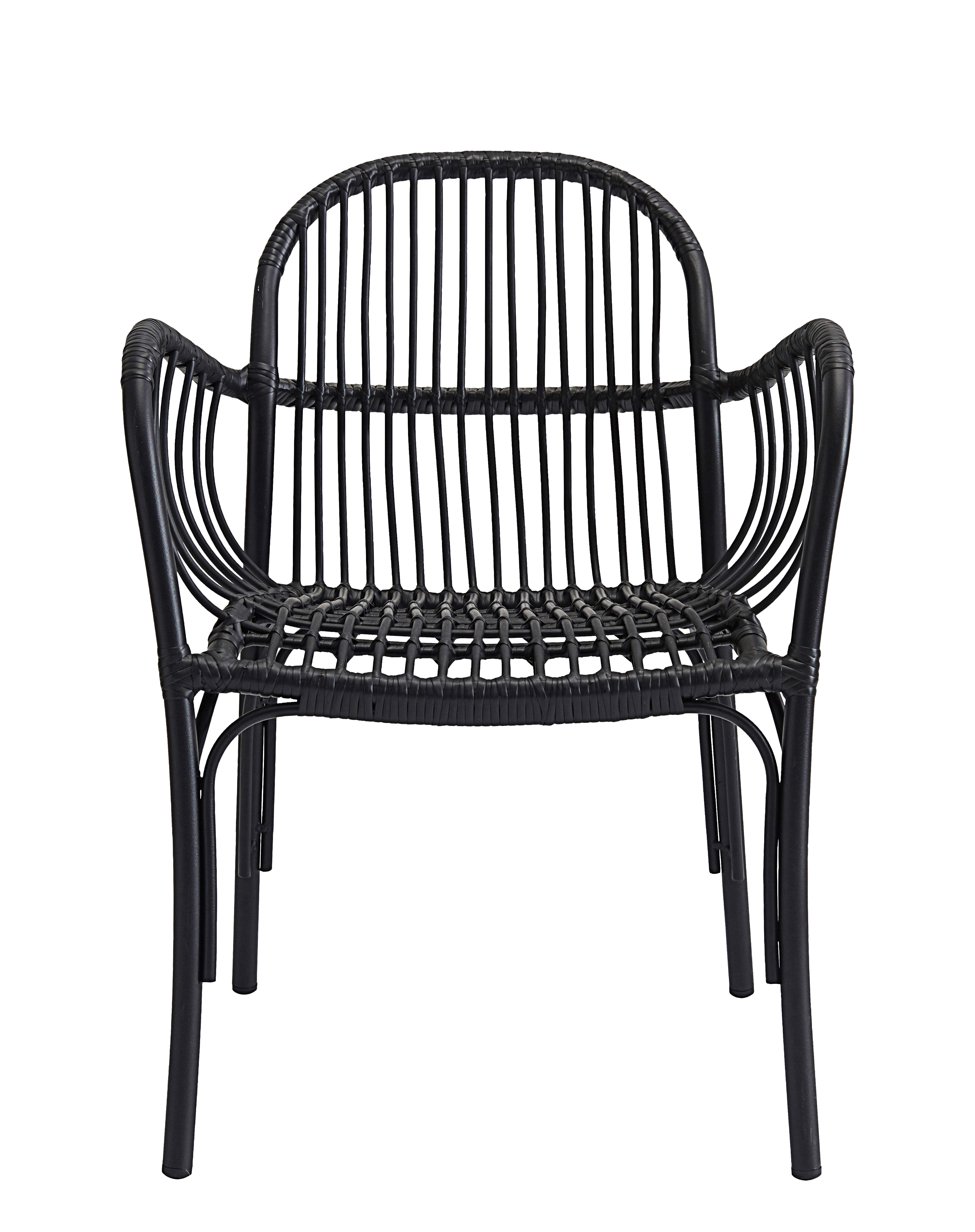 Outdoor - Chairs - Brea Armchair - / for outdoors by House Doctor - Black - Aluminium, Polythene