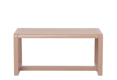 Banc enfant Little Architect / Bois - L 62 cm - Ferm Living rose en bois
