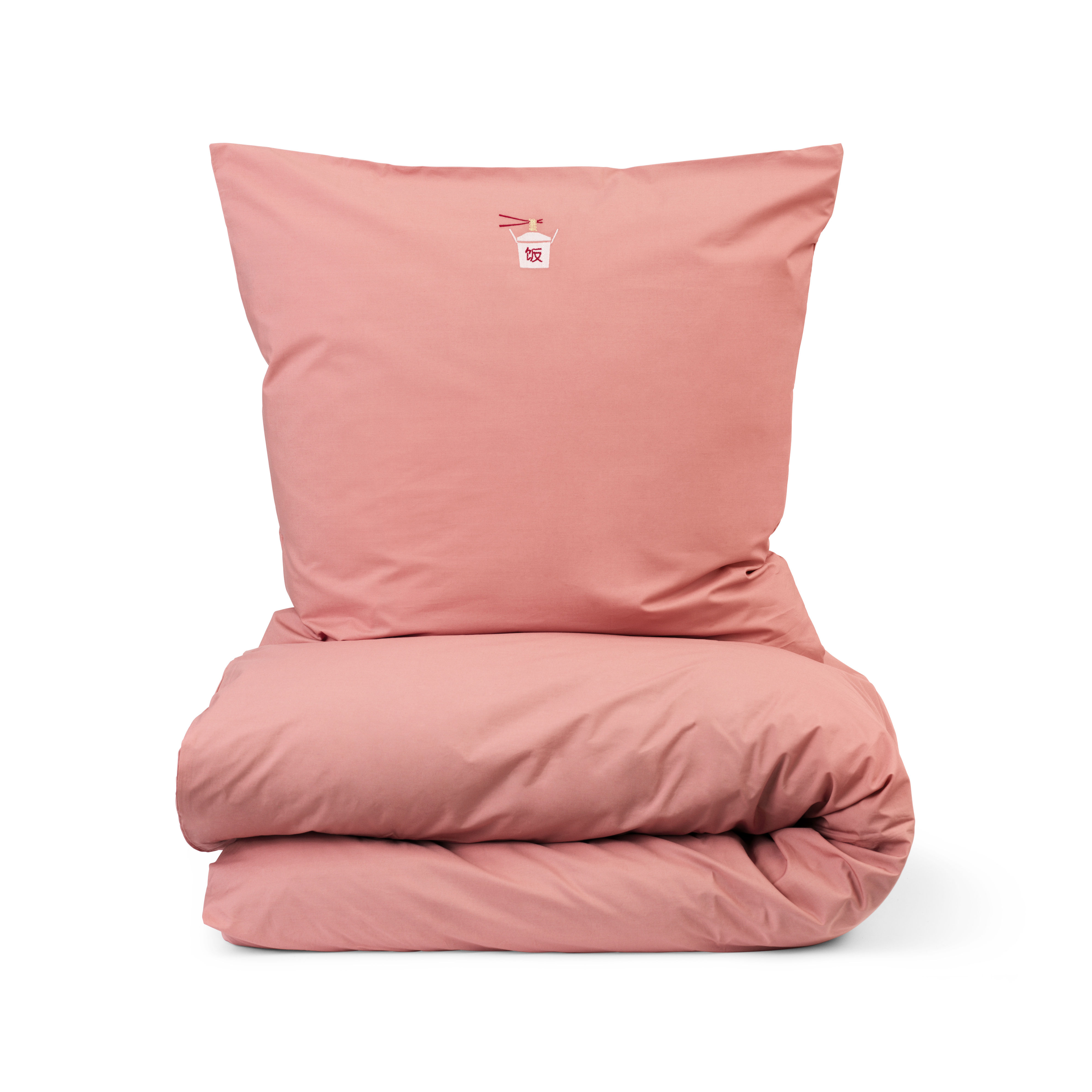 Decoration - Bedding & Bath Towels - Snooze Bedlinen set for 2 persons - / 200 x 220 cm by Normann Copenhagen - Coral / Happy Hangover - Cotton percale OEKO-TEX