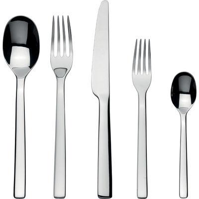 Tischkultur - Bestecke - Ovale Besteck Set / 5-teiliges Besteckservice - Alessi - 5-teilig - rostfreier Edelstahl, glänzend - Stahl