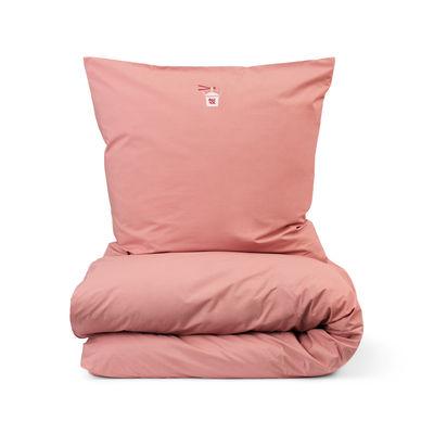 Interni - Tessili - Biancheria da letto 2 persone Snooze - / 200 x 220 cm di Normann Copenhagen - Corallo / Happy Hangover - Percalle di cotone OEKO-TEX