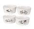 Bol Bikes / Set de 4 - Porcelaine - Pols Potten