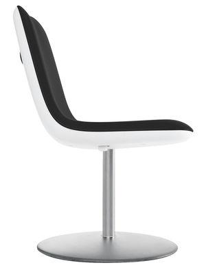 Mobilier - Chaises, fauteuils de salle à manger - Chaise pivotante Boum / Rembourrée - Kristalia - Noir - Acier brossé, Polypropylène, Tissu