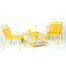 Luxembourg Coffee table - / With wheels 105 x 65 cm by Fermob