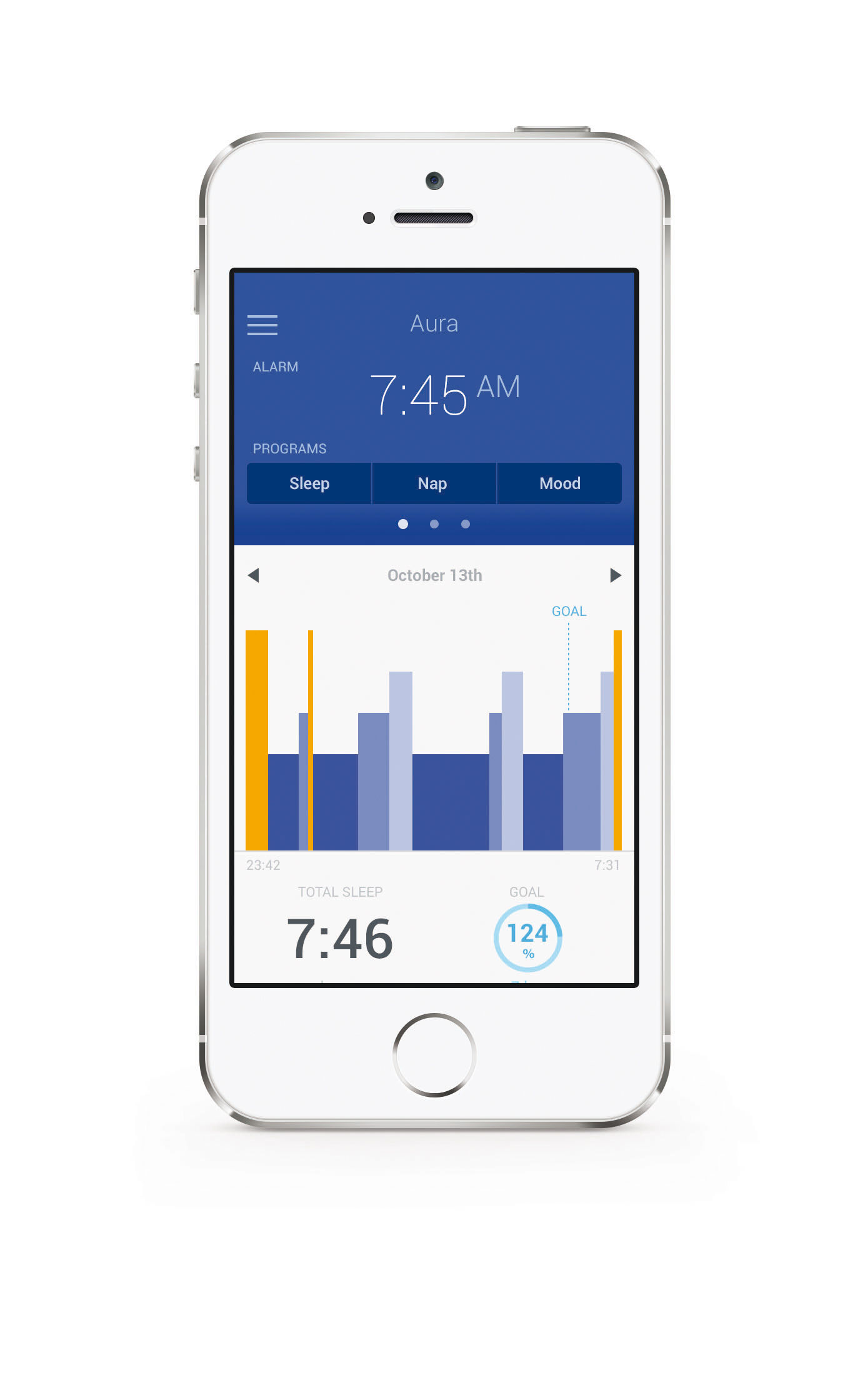 Connected Alarmclock Aura By Nokia White Made In Design Uk