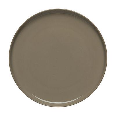 Tableware - Plates - Oiva Dessert plate - / Ø 20 cm by Marimekko - Oiva / Earth Beige - Sandstone