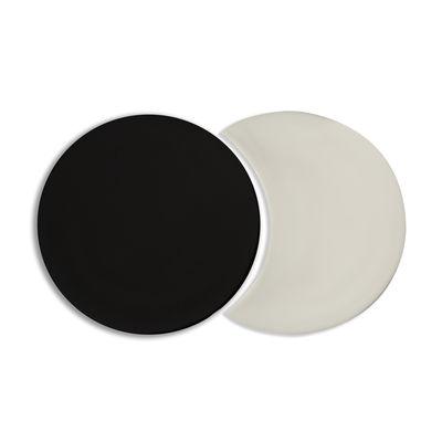 Dessous de plat Eclipse Céramique Set de 2 formes imbriquées Maison Sarah Lavoine noir,crème en céramique