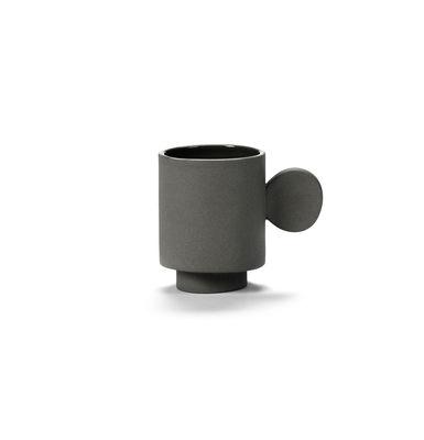 Tischkultur - Tassen und Becher - Inner Circle Espressotasse / 10 cl - Steinzeug - valerie objects - Dunkelgrau - Sandstein