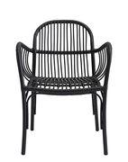 Chaise Brea pour l'extérieur Polyéthylène House Doctor noir en métal