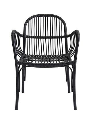 Chaise Brea / pour l'extérieur - Polyéthylène - House Doctor noir en métal