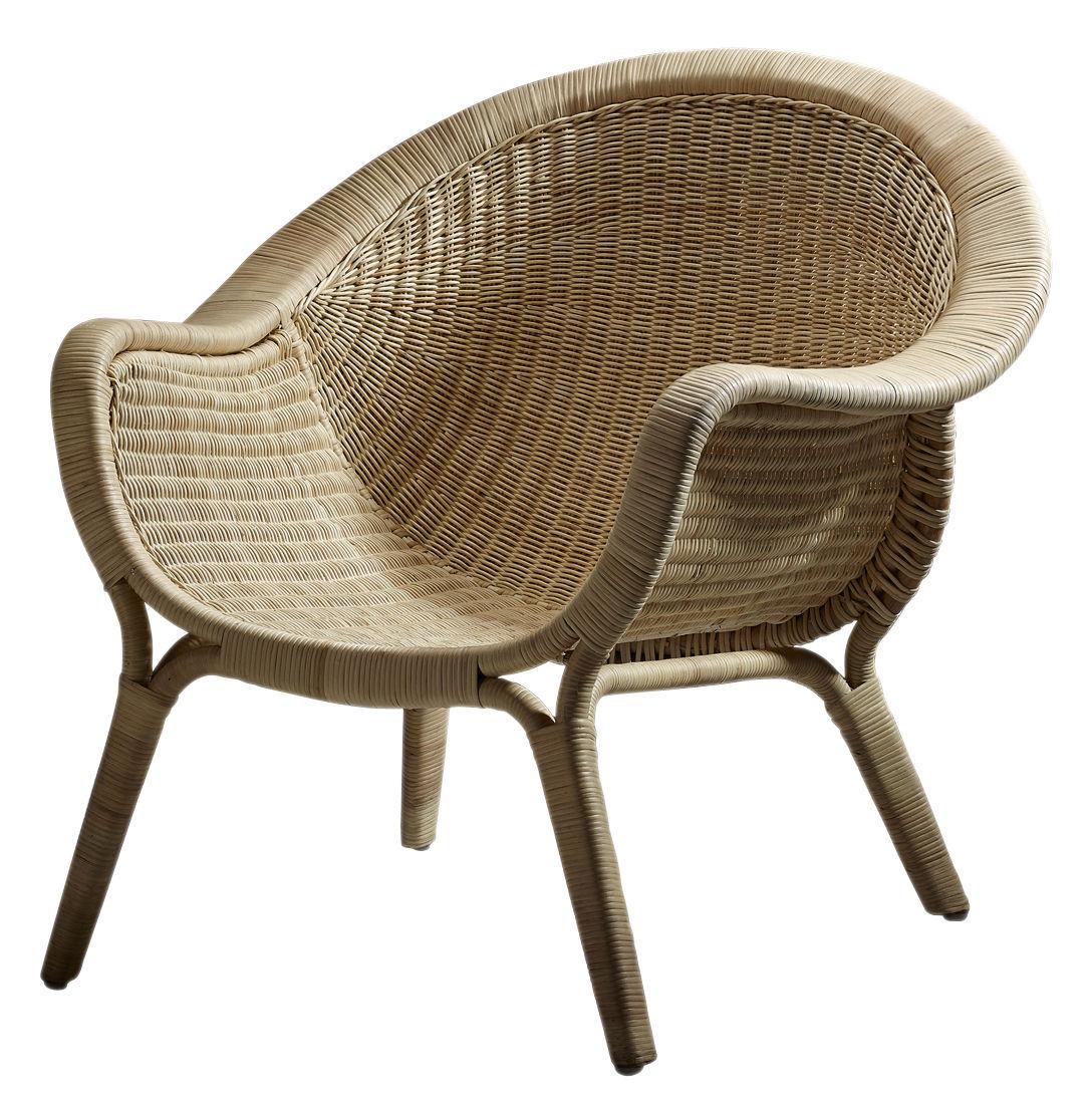 Mobilier - Fauteuils - Fauteuil Madame / Réédition 1951 - Sika Design - Fauteuil naturel - Rotin