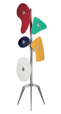 Lighting - Floor lamps - Orbital Floor lamp by Foscarini - Multicoloured - Lacquered metal, Satin glass