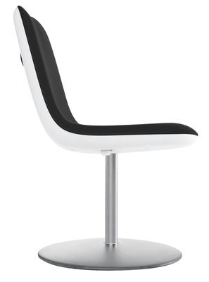 Arredamento - Sedie  - Girevole sedia Boum - Girevole di Kristalia - Nero - Acciaio satinato, Polipropilene, Tessuto