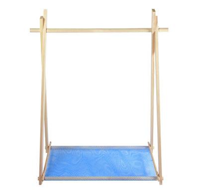 LeKit Small Kleiderständer - / L 100 cm x H 134 cm Buche / Netz blau ...