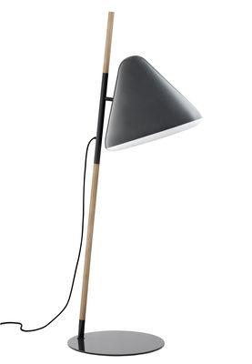 Illuminazione - Lampade da terra - Lampada a stelo Hello di Normann Copenhagen - Grigio - Acciaio, Faggio, Plexiglas
