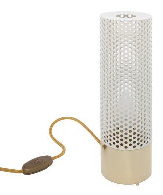 Luminaire - Lampes de table - Lampe de table Sabine / Laiton - H 33 cm - Maison Sarah Lavoine - Blanc / Base laiton - Laiton, Métal peint