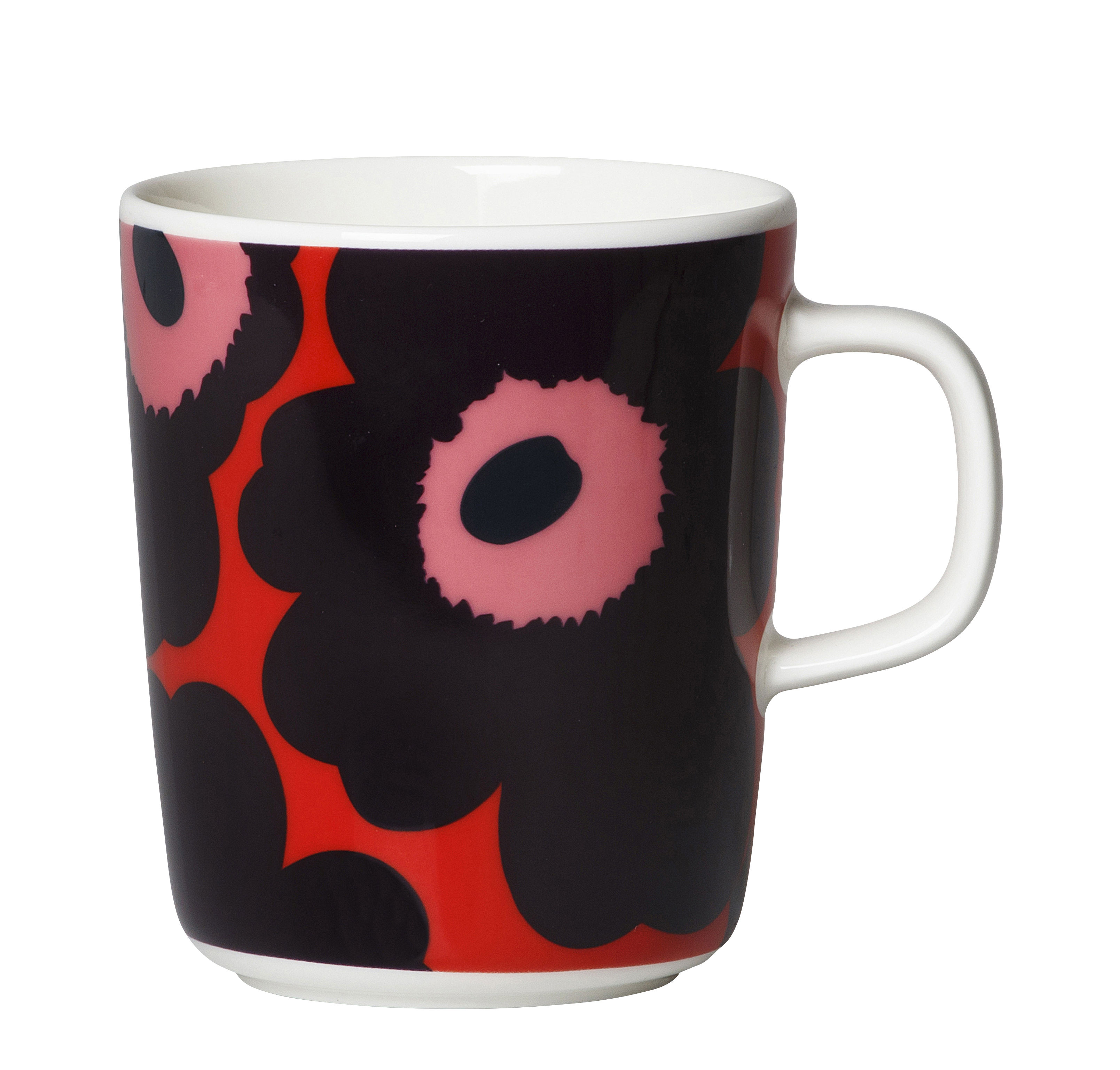 Arts de la table - Tasses et mugs - Mug Unikko / 25 cl - Marimekko - Unikko / Rouge, violet - Grès