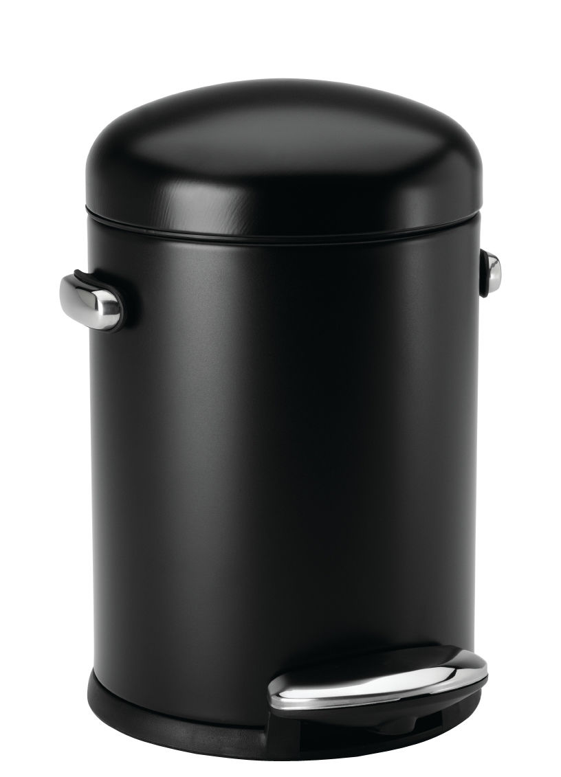Pedal Bin Retro By Simple Human Black Made In Design Uk