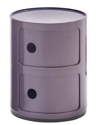 Arredamento - Mobili per bambini - Portaoggetti Componibili / 2 cassetti - H 40 cm - Kartell - Viola - ABS