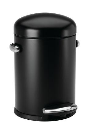 Accessoires - Accessoires salle de bains - Poubelle à pédale Retro / 4,5 L - Simple Human - Noir - Acier