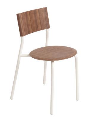 Furniture - Chairs - SSD Stacking chair - / Walnut by TipToe - Walnut / White cloud - Powder coated steel, Walnut