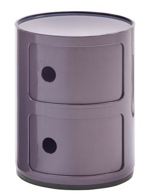 Furniture - Kids Furniture - Componibili Storage - 2 drawers / H 40 cm by Kartell - Purple - ABS