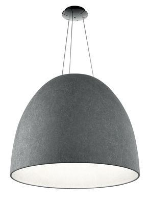 Luminaire - Suspensions - Suspension acoustique Nur LED / Feutre - Ø 91 cm - Artemide - Gris foncé - Feutre PET
