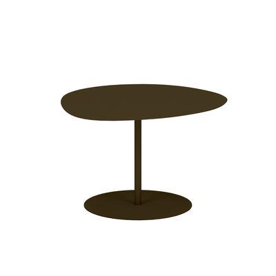 Table basse Galet n°1 OUTDOOR / 59 x 63 x H 40 cm - Matière Grise marron/métal en métal