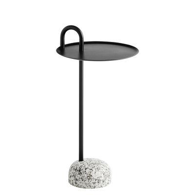 Mobilier - Tables basses - Table d'appoint Bowler / Métal & granit - Hay - Noir / Granit gris - Acier laqué époxy, Granite