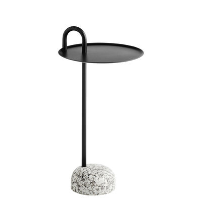 Table d'appoint Bowler / Métal & granit - Hay gris,noir en métal