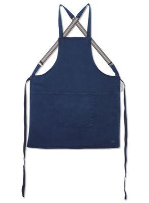 Tablier denim / Bretelles croisées - Dutchdeluxes bleu foncé en tissu