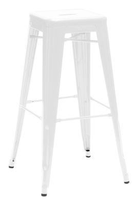 Tabouret de bar H / H 75 cm - Couleur brillante - Tolix blanc brillant en métal