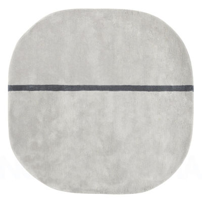 Image of Tappeto Oona - - 140 x 140 cm di Normann Copenhagen - Grigio - Tessuto