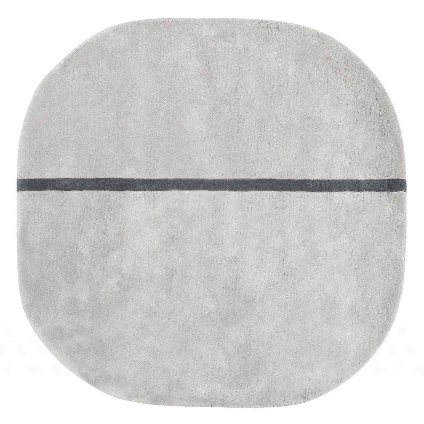 Interni - Tappeti - Tappeto Oona - - 140 x 140 cm di Normann Copenhagen - Grigio - Lana