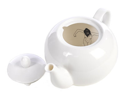 Tavola - Caffè - Teiera Naked girls di Pols Potten - Bianco - Porcellana verniciata