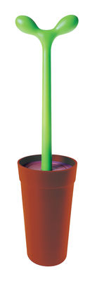 Decoration - For bathroom - Merdolino Toilet brush by A di Alessi - Brown - Thermoplastic resin
