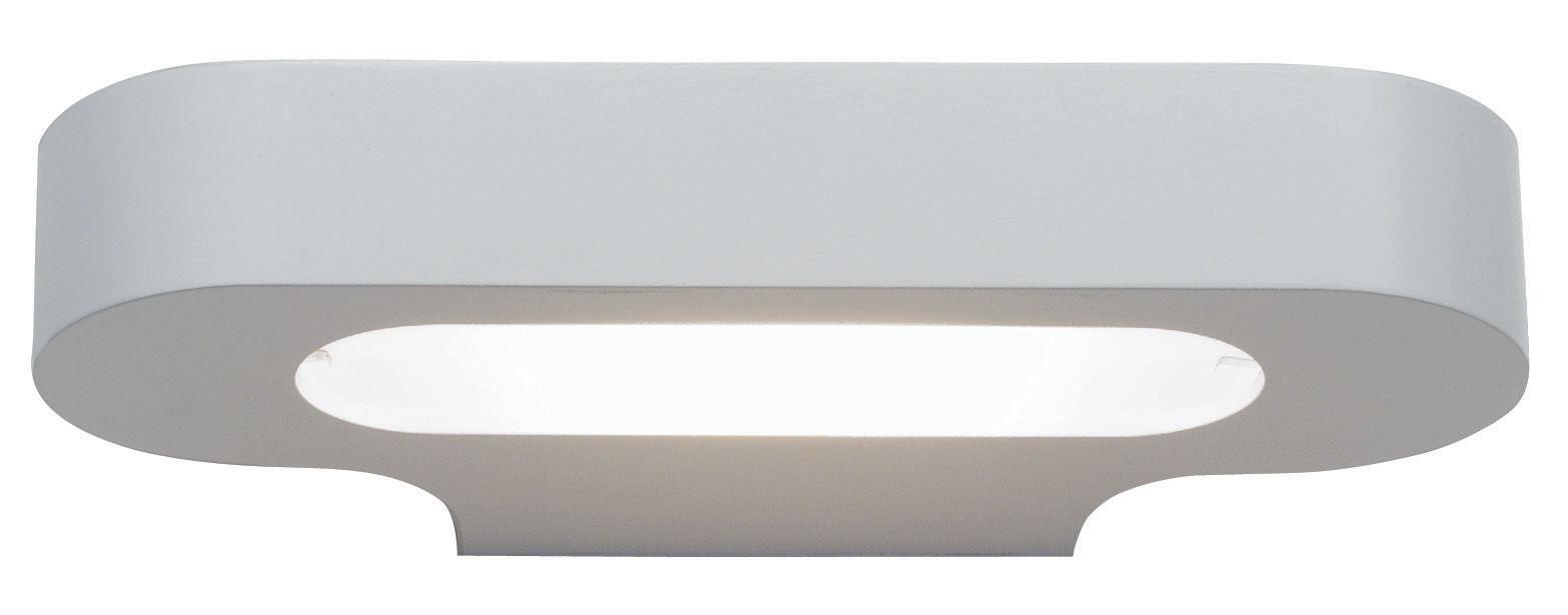 Lighting - Wall Lights - Talo Wall light - Halogen - L 21 cm by Artemide - White - Varnished aluminium