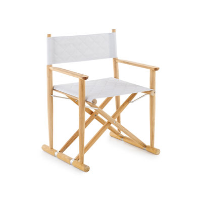 Furniture - Chairs - Pevero Armchair - / Teak (structure on its own with no fabric) by Unopiu - Armchair base / Teak - Stainless steel, Teak