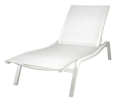Bain de soleil Alizé XS / larg. 72 cm - 3 positions - Fermob blanc en métal/tissu