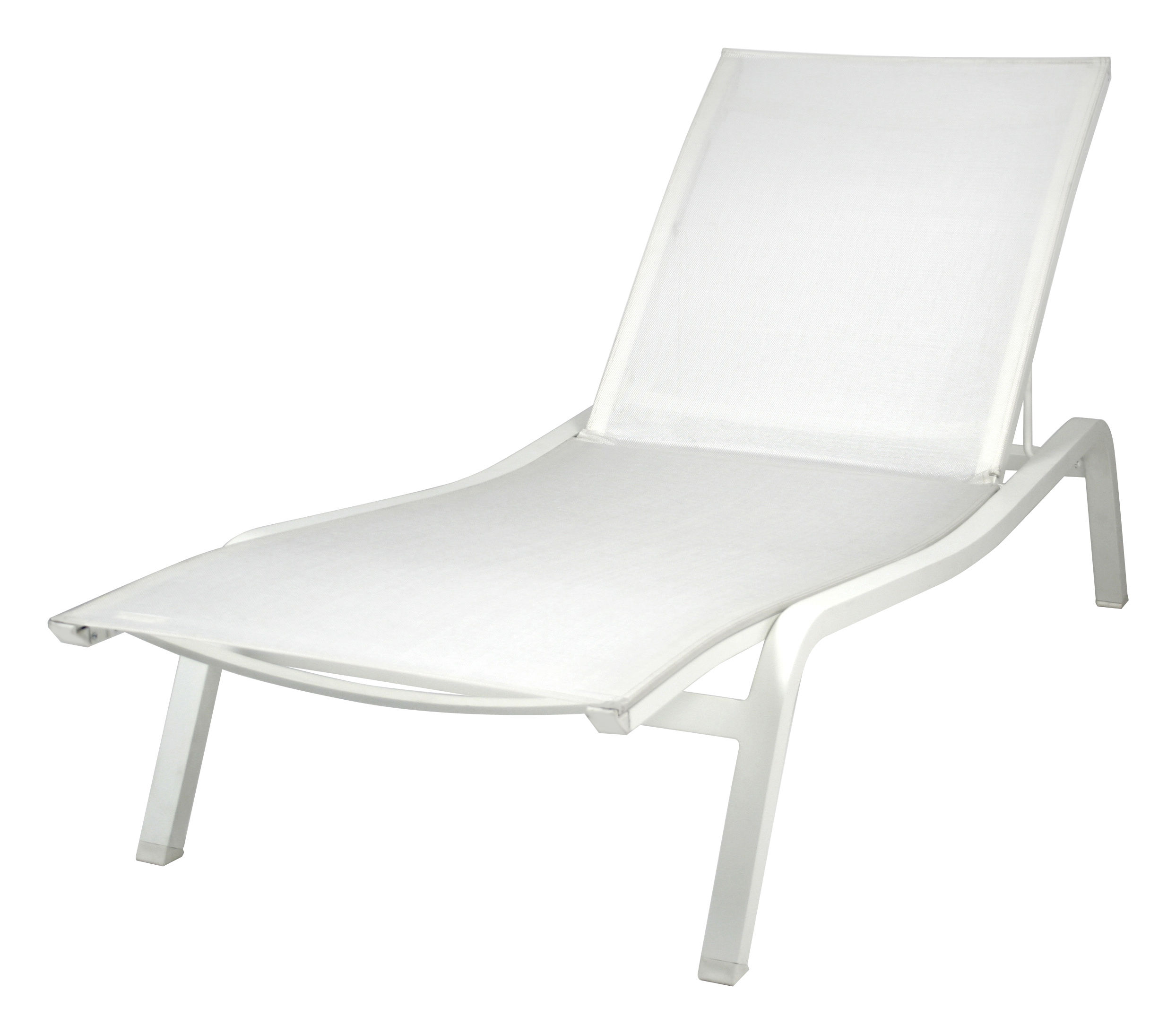 Jardin - Chaises longues et hamacs - Bain de soleil Alizé XS larg 72 cm / 3 positions - Fermob - Blanc coton - Aluminium laqué, Toile polyester