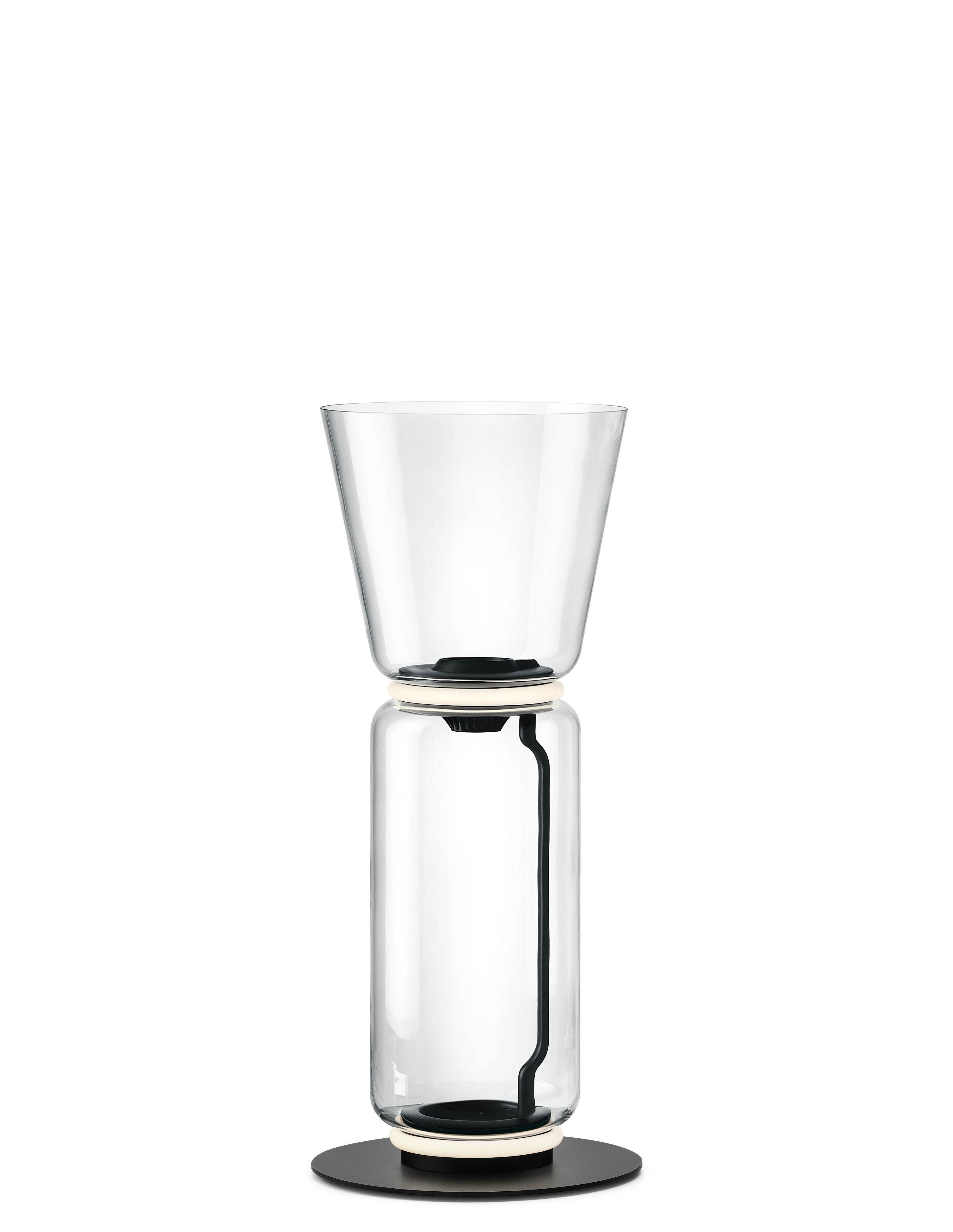 Leuchten - Stehleuchten - Noctambule Cône n°1 Bodenleuchte / LED - Ø 36 x H 91 cm - Flos - H 91 cm / Transparent - geblasenes Glas, Gussaluminium, Stahl