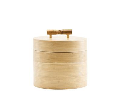 Kitchenware - Kitchen Storage Jars - Bamboo Box - / Ø 12 x H 10 cm by House Doctor - Ø 12 x H 10 cm - Bamboo