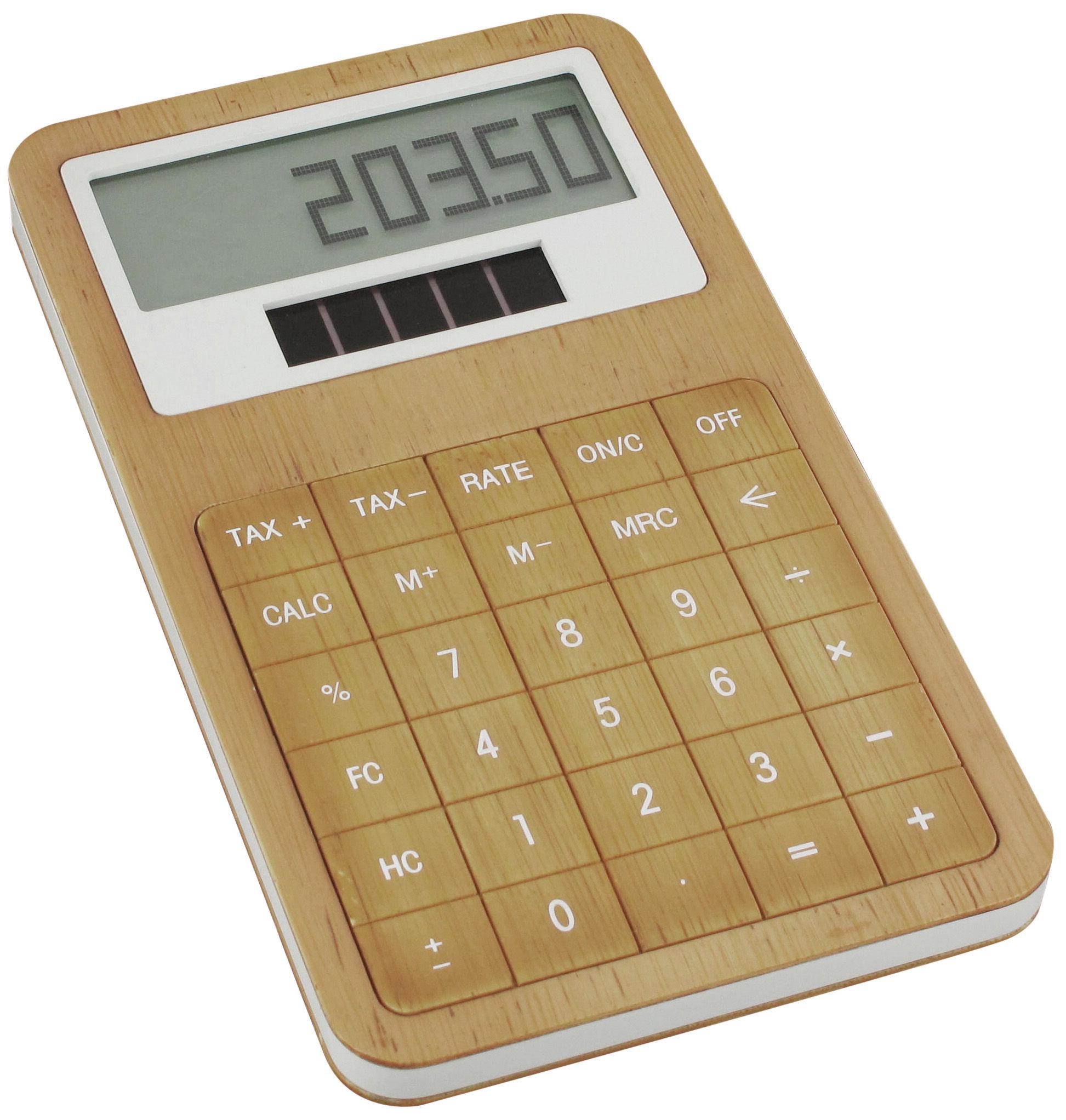 Decoration - Office - Safe Calculator by Lexon - Bamboo - Bamboo, Bioplastic
