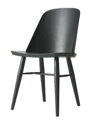 Chaise Synnes / Bois - Menu frêne teinté noir en bois